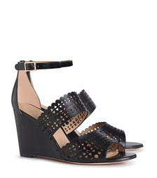 Tory Burch Perforated Gladiator Wedge