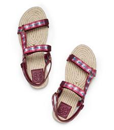 Sonda A (pink) Tory Burch Strappy Espadrille Bumper Sandal