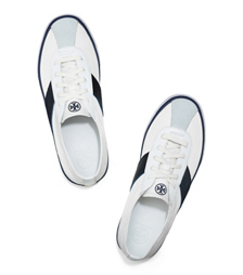 White/laguna Tory Burch Simple Stripe Tennis Shoe