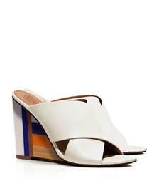 Ivory Tory Burch Color-cube Mule