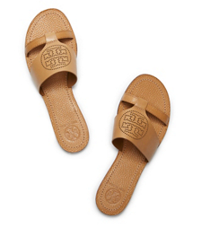 Tory Burch Perforated Logo Flat Slide