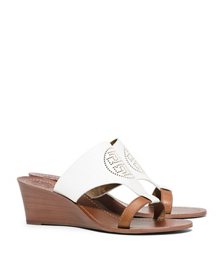 Tory Burch Perforated Logo Wedge