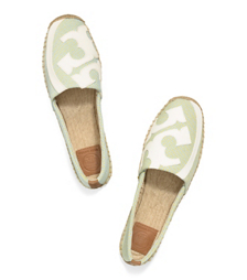 Skylark/citrus/ivory/royal Tan Tory Burch Lonnie Flat Espadrille