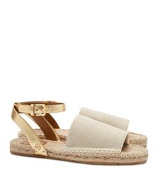 Tory Burch Elastic Metallic Espadrille Sandal