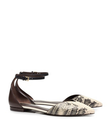 Tory Burch V-cut Ankle-strap Flat