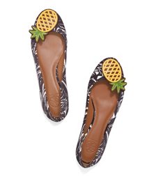 Tory Burch Pineapple Ballet Flat