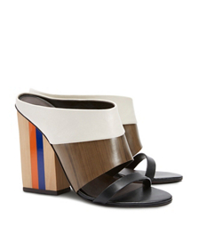 New Ivory/natural Wood/black Tory Burch Mika Mule