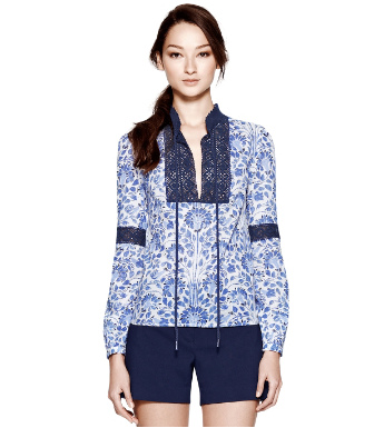 Blue Jay Nerina  Tory Burch Gracelynn Top