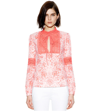 Pink Shell Nerina  Tory Burch Gracelynn Top