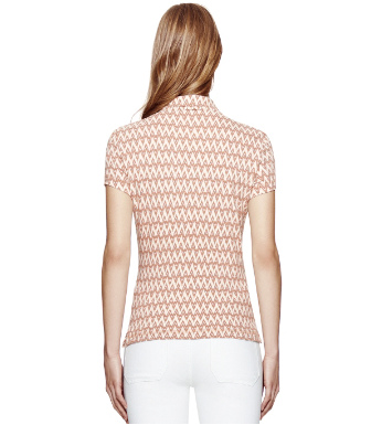 Brazil Nut Zig Zag Ikat Mini  Tory Burch Quin Polo