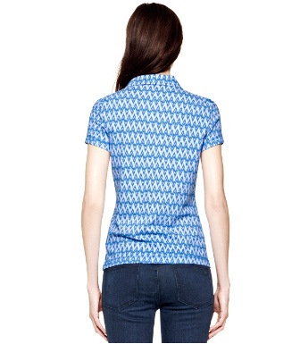 Ocean Breeze Zig Zag Ikat Mini  Tory Burch Quin Polo
