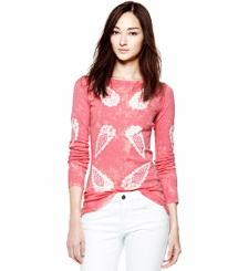 Shell Batik Knit Combo A Tory Burch Allie Top