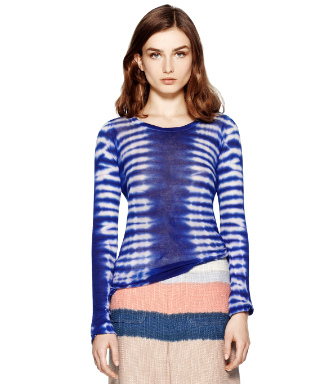 Tiger Tie Dye Knit Combo A Tory Burch Allie Top