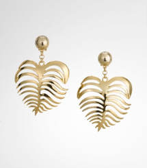 HEART OF PALM EARRING