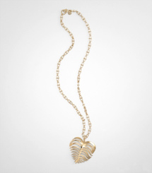 HEART OF PALM PENDANT NECKLACE