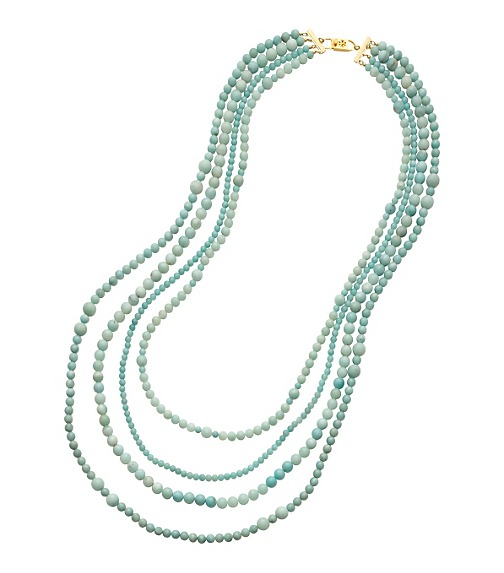 4 STRAND BEADED STONE NECKLACE