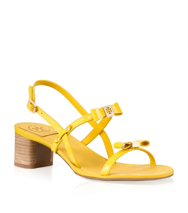 Patent Leather Kailey Mid Heel Sandal