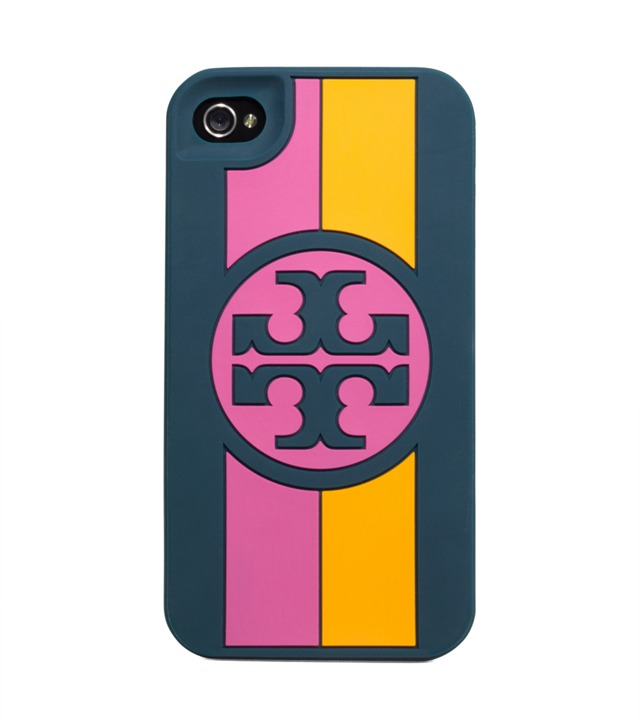 Rosyln Logo Stripe Silicone Phone Case For iPhone 4