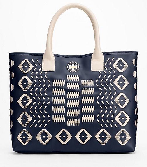 Claire Stitched Leather Tote
