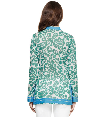 Viridian Green Captiva  Tory Burch Tory Tunic