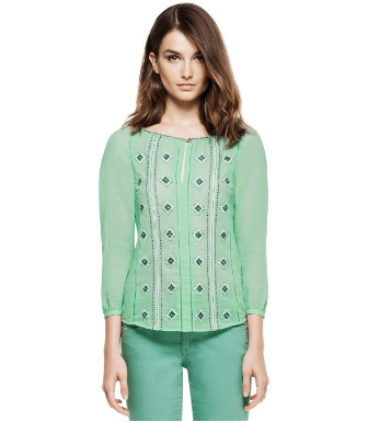 Aqua Sea Tory Burch Lucille Top