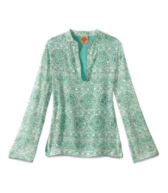 Fern Green Caracol  Tory Burch Stephanie Tunic