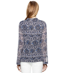 Tory Navy Caracol  Tory Burch Stephanie Tunic