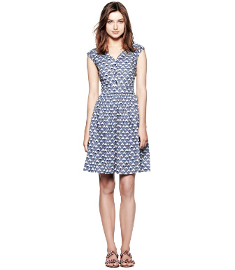 Dark White Quartz Deco Diamonds  Tory Burch Nico Dress