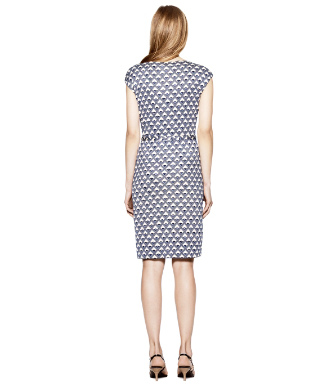 Dark White Quartz Deco Diamonds  Tory Burch Kalvin Dress