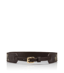 Tory Burch Woven Straw Belt