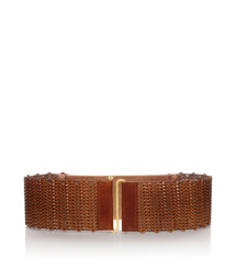 Tory Burch Braided Leather Stretch Belt