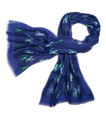 "Tory Burch Allover ""t"" With Lobster Scarf"