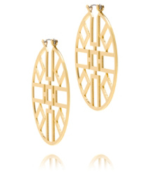 Tory Burch Jordan Wire Hoop Earring