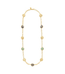 Tory Burch Color Frete Rosary Necklace