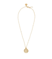 "Ivory Tory Burch Color Frete Tiled ""t"" Charm Short Necklace"