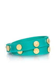 JELLY LOGO STUDDED DOUBLE WRAP BRACELET