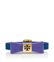 Blue Nile/purple Sahara Tory Burch Bow Bracelet