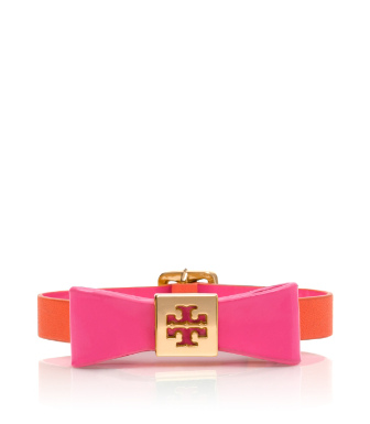 Fire Orange/flamingo Tory Burch Bow Bracelet