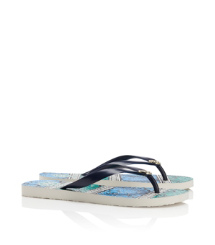 Normandy Blue-sanibel Tory Burch Tb Flip Flop