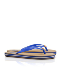 Normandy Blue Tory Burch Striped Flip Flop