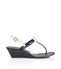 Bleach/bright Navy Tory Burch Kailey Wedge Thong Sandal
