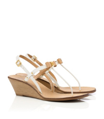 Iced Coffee/bleach Tory Burch Kailey Wedge Thong Sandal