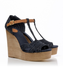 CARINA 120MM WEDGE SANDAL | BRIGHT NAVY/ROYAL TAN | 421
