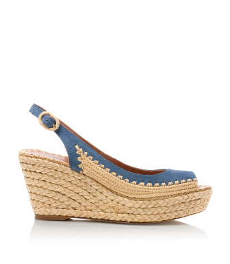 Light Chambray Tory Burch Camden Wedge Espadrille