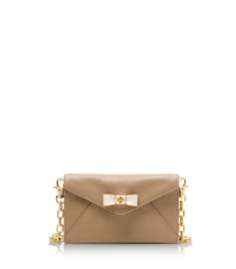 Clay Beige/bleach Tory Burch Bow Envelope Crossbody