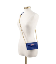 Blue Nile/purple Sahara Tory Burch Bow Envelope Crossbody