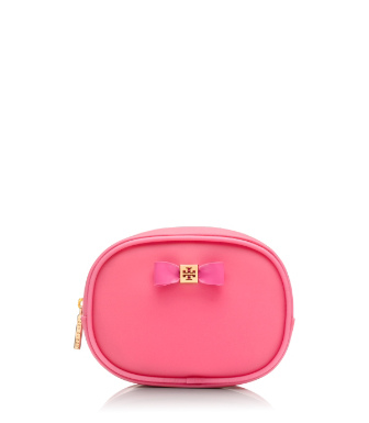 Strawberry Tory Burch Bow Small Cosmetic Case