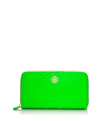 Apple Green Tory Burch Neon Snake Zip Continental