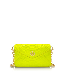 Flash Yellow Tory Burch Neon Snake Crossbody