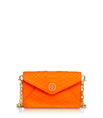Sunrise Orange Tory Burch Neon Snake Crossbody